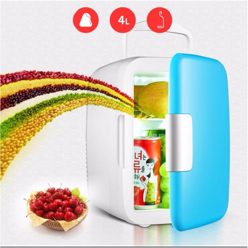 Tủ lạnh mini dành cho xe hơi 4 Lít  (Xanh)