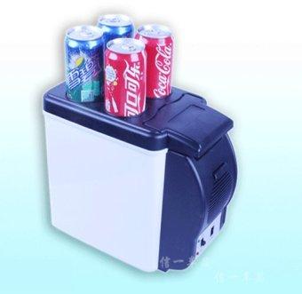Tủ lạnh mini di động nguồn điện 12V & 220V 6L (Bạc)