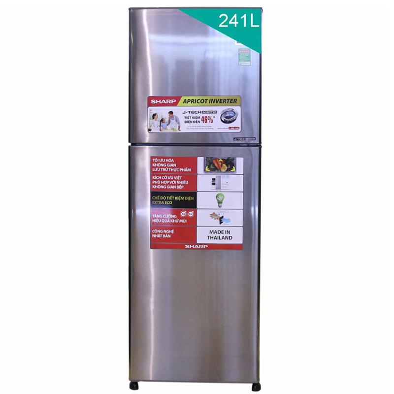 Tủ lạnh Sharp Apricot SJ-X251E-SL 241L (Bạc)