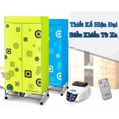Tủ sấy quần áo 2 tầng, khung inox, có điều khiển từ xa (nhập khẩu Hàn Quốc)