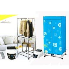Tủ sấy quần áo cao cấp Panasonic có điều khiển từ xa (Xanh)
