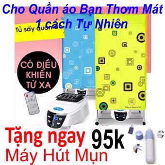 Tủ sấy quần áo Cao cấp(Loại 2 Tầng 2017) Hàng Nhập Khẩu + Tặng Máy Hút Mụn