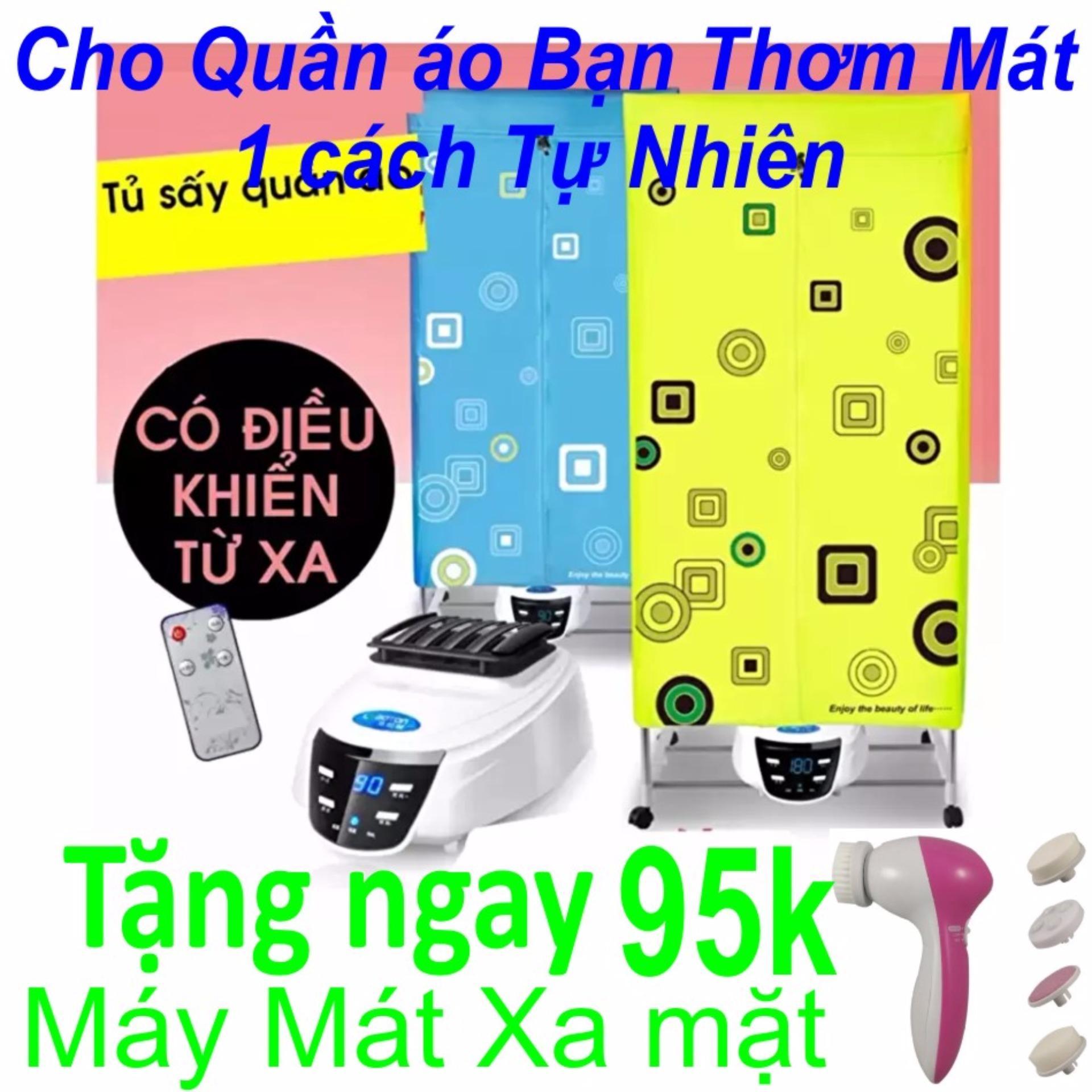 Tủ sấy quần áo Cao cấp(Loại 2 Tầng 2017) Hàng Nhập Khẩu + Tặng MáyMát xa Mặt