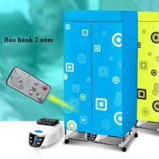 Tủ sấy quần áo Pana-sonic 882F, khung inox, điều khiển từ xa (xanh)