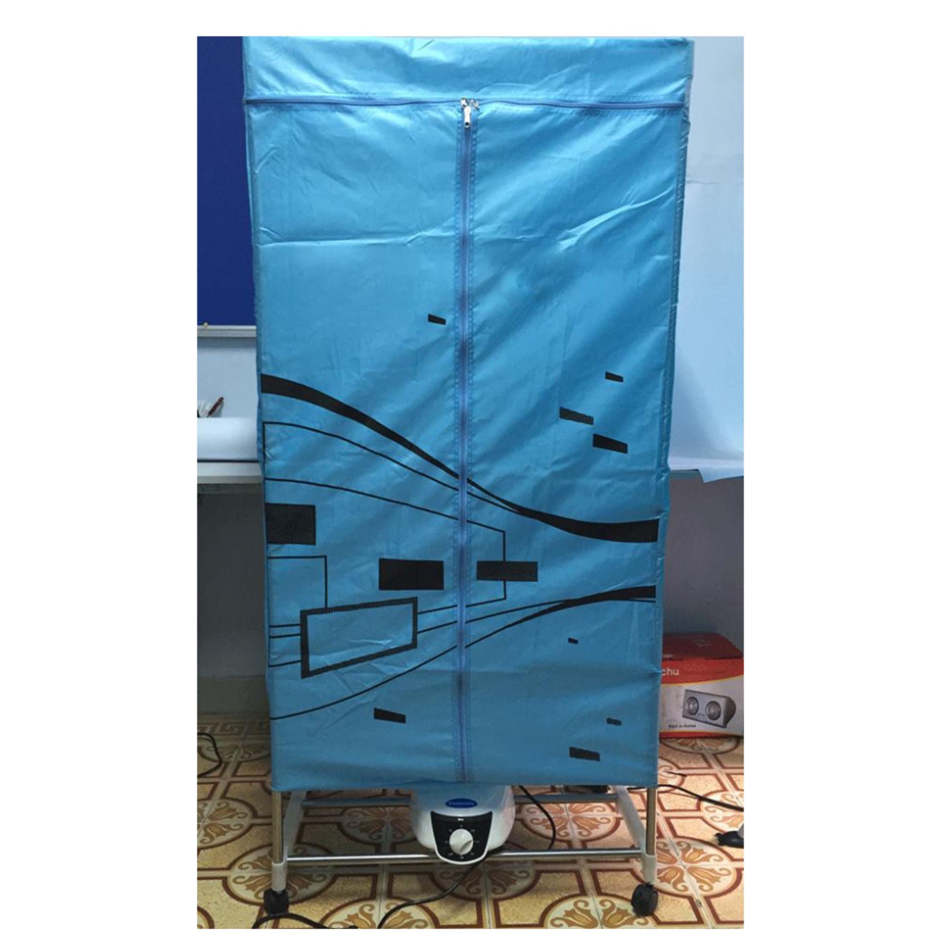 Tủ Sấy Quần Áo SAMSUNG Khung inox(Xanh dương nhạt)
