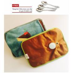 Túi sưởi ấm tay/bán túi sưởi hà nội hình chữ nhật (Màu ngẫu nhiên) + Tặng bộ 3 thìa inox