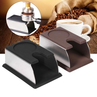 YOSOO-Stainless Steel Coffee Tamper Stand Rack+Silicone (Black) -intl