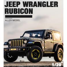 Xe mô hình Jeep Wrangler Rubicon tỉ lệ 1:20 bằng hợp kim, có đèn xe