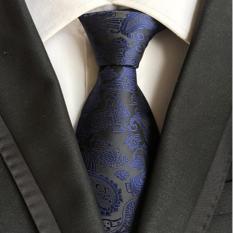 18 màu sắc sinh động của đàn ông Paisley Cà Vạt Classic 8 cm rộng Polyester lụa Jacquard dệt Tie quý ông phù hợp với phụ kiện cho tiệc cưới kinh doanh