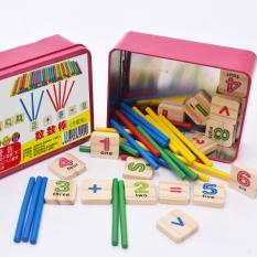 Đồ chơi bảng chữ cái gỗ Đồ chơi que tính học toán cho bé