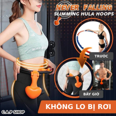 Vòng lắc eo thông minh giảm mỡ bụng giảm cân Nữ và Nam Massage Hula Hoop để tập thể hình Gym cho thon gọn có đồng hồ đo số vòng