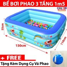 Bể Bơi bơm hơi TPHCM, Bể Phao Bơm Hơi Cỡ Lớn. Mua Ngay Bể Bơi Trong Nhà Loại 1M5 Cao Cấp Loại Tốt (Sale-50%) Cho Các Bé Chơi Đùa Chơi Với Nước Tại Nhà.