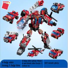 Bộ lego 6 in 1 Qmjm- mô hình robot 1416