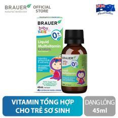 Vitamin Tổng Hợp Brauer Liquid MultiVitamin dạng lỏng (45ml), tăng cường hệ miễn dịch và hỗ trợ phát triển toàn diện, cho trẻ sơ sinh