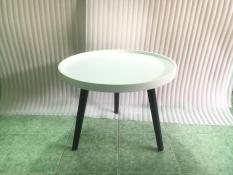 BCF – Bàn tròn viền trắng chân đen 60×45, bàn trà, bàn sofa, bàn cafe, coffee, cà phê, bàn gỗ phòng khách