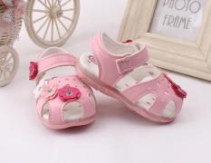 Sandal đính hoa xinh cho bé gái