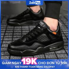 Giày Sneaker thể thao nam form ôm mẫu đẹp đen TDM194 – Moki Store