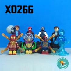 Non Lego Xếp hình siêu anh hùng người nhện Spider Man – Bộ 8 nhân vật – X0266