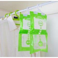 [Siêu tiết kiệm ]Túi hút ẩm đa năng có 2 ngăn treo tủ quần áo giữ cho bạn trong một môi trường lành mạnh và không khí tươi mát