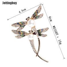 Jettingbuy Pagg Thời Trang Phụ Nữ Ngọc Trai Pha Lê Động Vật Con Chuồn Chuồn Ghim Trâm Tráng Men Đồ Trang Sức Custome