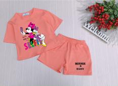 Bộ đồ cho bé gái Minnie & Daisy từ 8kg đến 25kg(MS-MINNIE&DAISY)