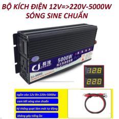bộ kích điện sóng sine chuẩn 12v lên 220v-5000w