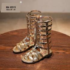 Giày Sandal Chiến Binh Vàng Kim Sang Chảnh Cho Bé Gái XD15