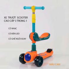 Xe Trượt Scooter – Bánh Phát Sáng Cho Bé Từ 3 – 8 Tuổi – Tải Trọng Lên Đến 100kg – Xe Trượt 3 Bánh – Đồ Chơi Hoạt Động Ngoài Trời Cho Bé