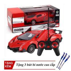 Xe Điều Khiển Từ Xa Lamborghinii, Thiết Kế Tiện Dụng , Kiểu Dáng Thể Thao, Chất Liệu Nhựa An Toàn Cho Bé, Tặng 3 Bút Bi Nước Cao Cấp