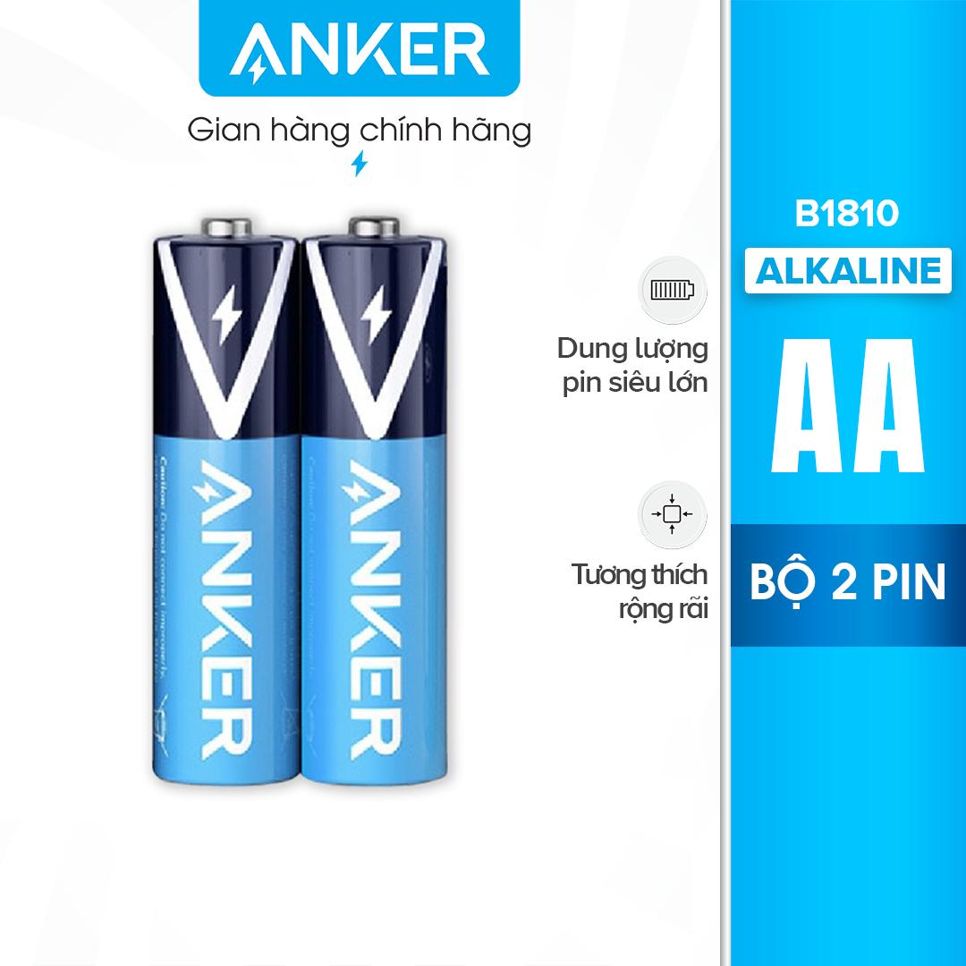 Bộ 2 Pin Kiềm (dùng 1 lần) AA ANKER Alkaline – B1810 bền bỉ chống rò rỉ và an toàn với công nghệ PowerLock