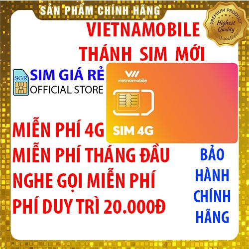 Thánh Sim 4G Vietnamobile mới Miễn phí DATA không giới hạn – Nghe gọi nội mạng miễn phí – Miễn phí tháng đầu – Phí duy trì 20.000đ – Shop Sim Giá Rẻ