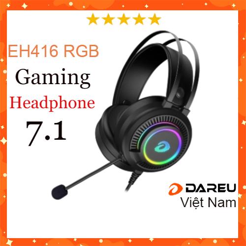 Tai nghe gaming Dareu EH416 RGB giả Lập 7.1 cổng USB- Mai Hoàng Phân Phối