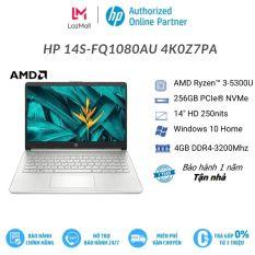 Laptop HP 14s-fq1080AU 4K0Z7PA (Ryzen 3-5300U   4GB   256GB   Radeon Vega   14 inch HD   Win 10   Bạc)