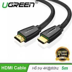 Cáp hdmi 2.0 mạ vàng hỗ trợ độ phân giải tối đa 4k/60Hz 4096×2160 hỗ trợ 3D dùng cho máy tính, máy chiếu, tivi, tivi box, PS3/4…… Dài 5m UGREEN HD118 50465 – Hãng phân phối chính thức
