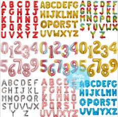 Bóng chữ và số ghép tên, tuổi – 5k/1 chữ số (40cm)