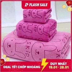 Bộ 3 Khăn tắm – Khăn lau – Khăn mặt mền mịn dùng cho cả trẻ em