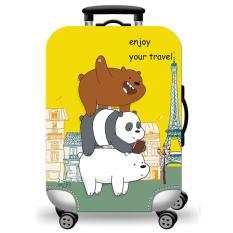 Túi bọc bảo vệ vali -Áo vỏ bọc vali – Size M-3 CHÚ GẤU-HPValiOEM