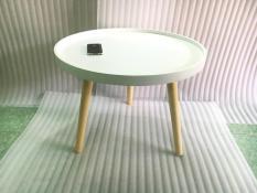 BCF – Bàn tròn viền trắng 60×45, bàn trà, bàn sofa, bàn cafe, coffee, cà phê, bàn gỗ phòng khách