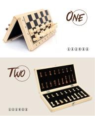Bộ cờ vua bằng gỗ tiêu chuẩn quốc tế đủ size có nam châm – Hàng xuất Nga