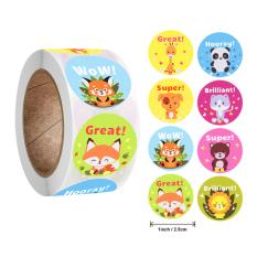 Cuộn 500 sticker khen thưởng tiếng Anh khích lệ tinh thần học tập cho bé yêu với nhiều họa tiết kèm slogan tiếng Anh thú vị BBShine – ST013