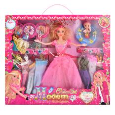 Bộ sưu tập thời trang búp bê Barbie & em gái nhỏ bơi phao