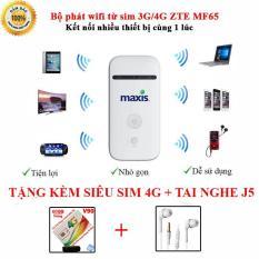 Bộ phát wifi từ sim 3G/4G ZTE MF65 – Phiên bản Trắng ( MAXIS )