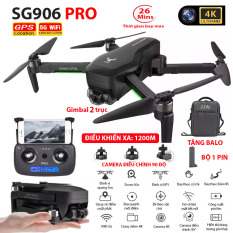 (NEW 2020)TẶNG KÈM BALO – Máy bay Flycam ZLRC SG906 Pro 2 camera 4k, gimbal chống rung 3 trục, Bay xa 1200m, Thời gian bay max 26 phút, Hai camera kép, Camera Wifi 5G – BẢO HÀNH 6 THÁNG