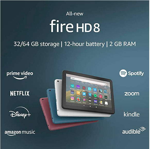 Máy tính bảng Kindle Fire HD 8 – 32GB 2020