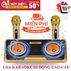 , Loa Thùng Bluetooth Hát Karaoke hay Loa nhật công suất lớn, Loa Bluetooth Karaoke SDRD SD-301+ Kèm 2 Mic Không Dây.Loa karaoke bluetooth có giá đỡ điện thoại, Phân Phối Và Bảo Hành 1 Đổi 1