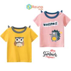 Áo thun bé gái 27Home áo cộc cho bé in hình thú cưng cute chất cotton hàng nhập khẩu