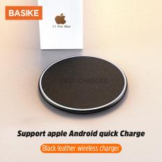 BASIKE [Chất lượng cao] Bộ sạc không dây 10W / 15W cho điện thoại Iphone Android Bộ sạc nhanh không dây với đèn báo vòng LED giao diện TYPE-CQi không dây Model: WS