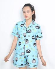 Đồ bộ pijama ngắn gấu xám