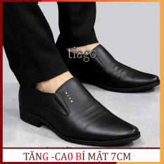 giày nam tăng chiều cao 7cm độn bí mật,da bò cao cấp