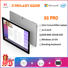 Teclast Official Máy tính bảng cầm tay Teclast X6 Pro, hệ điều hành Windows 10, bộ xử lý Intel Core M3-6Y30 màn hình 12.6 inch độ phân giải 2880*1920 màn hình mỏng 2.5K IPS, bộ nhớ trong 8GB + bộ nhớ ngoài 256GB, wifi băng tần kép, máy tính 2 trong 1 có t